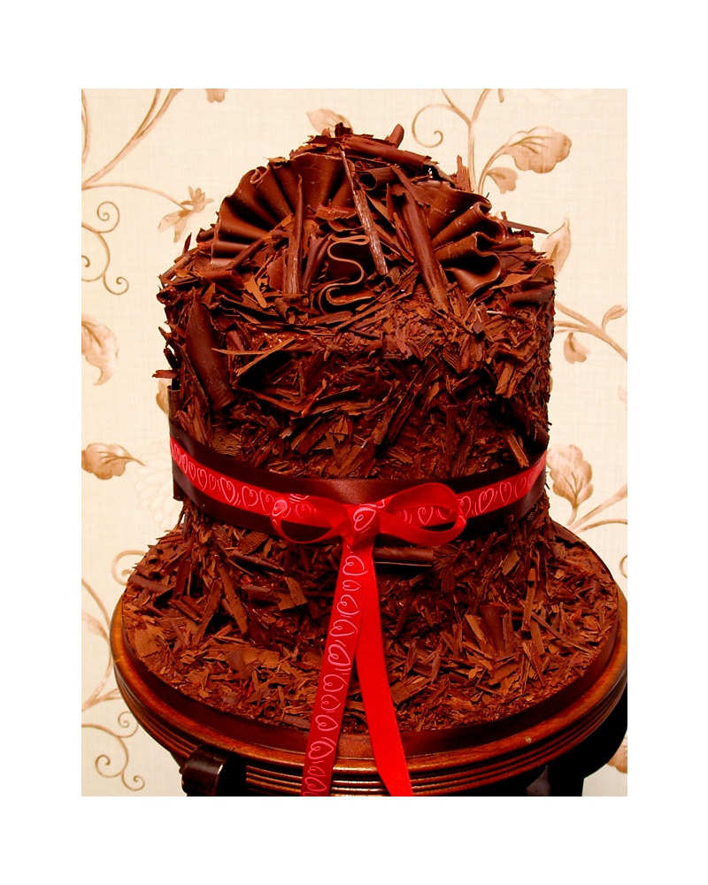 Home Birthday Cakes Chocolate Birthday Cakes Ruffle Tower Affordable ...